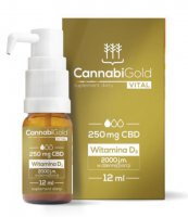 CANNABIGOLD VITAL 250 MG CBD WITAMINA D3 2000 12ML